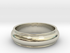 Men's Antique Wedding Band in 14k White Gold: 8.5 / 58