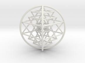 3D Sri Yantra 4 Sided Optimal Large in White Premium Versatile Plastic