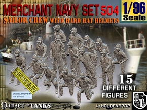 1/96 Merchant Navy Set504 in Smooth Fine Detail Plastic