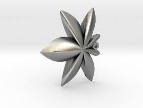 Maple Pendant in Natural Silver: 28mm