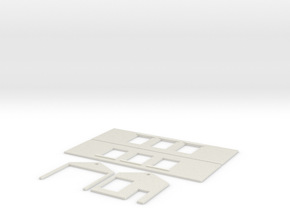 N Scale PECO Shed Inside complete in White Natural Versatile Plastic
