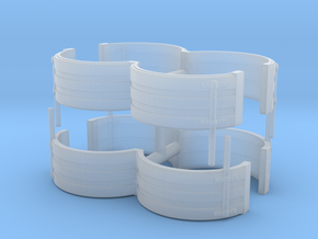 1/64th Tandem Axle Ribbed Fenders in Smooth Fine Detail Plastic