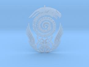Maori snake bird tattoo Pendant in Smooth Fine Detail Plastic
