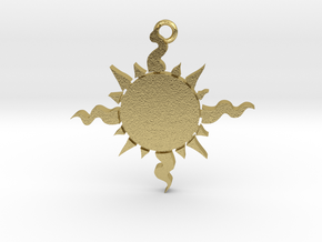 Light (Sun) Pendant in Natural Brass
