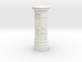 35mm/O Gauge Post Box in White Natural Versatile Plastic