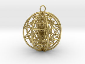 3D Sri Yantra 8 Sided Optimal   in Natural Brass
