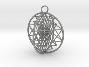 3D Sri Yantra 4 Sided Optimal in Gray Professional Plastic