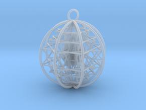 3D Sri Yantra 8 Sided Symmetrical in Smooth Fine Detail Plastic