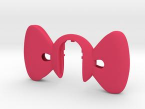 Key Fob XXL RIBBON  in Pink Processed Versatile Plastic