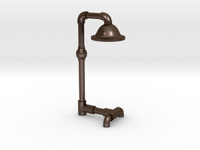 floor lamp in Polished Bronze Steel: Medium