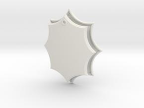 Elaborate Lozenge w/ Eyelet (Framed) in White Natural Versatile Plastic: Small