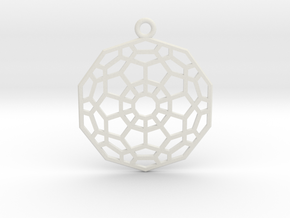 Hyper Dodecahedron in White Natural Versatile Plastic