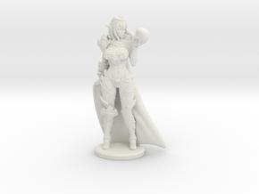 Dark Queen w Cape Mini - 40mm in White Premium Versatile Plastic