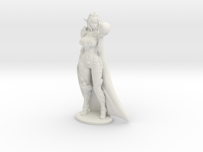 Dark Queen Syx w Cape - 200mm (approx 8 inches) in White Natural Versatile Plastic