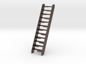 Dollhouse Lapeyre Stair in Polished Bronzed-Silver Steel