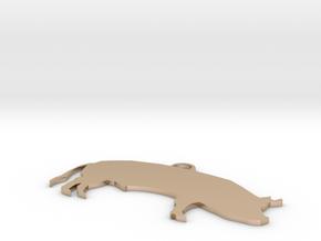 Pig in 14k Rose Gold: Medium