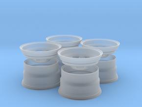 2 Piece Nascar Aero Wheel Set 1/24 in Smoothest Fine Detail Plastic