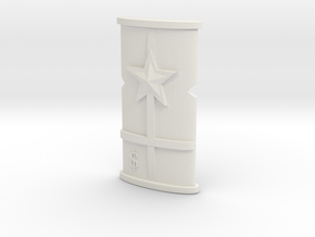 B13Shield2 in White Natural Versatile Plastic
