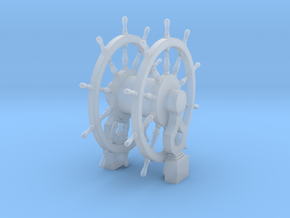 1/96 Wheel and Pedestal for Frigates, Sloops, etc. in Smoothest Fine Detail Plastic