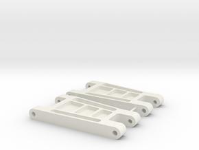 AYK Radiant Front Upper Arm in White Natural Versatile Plastic