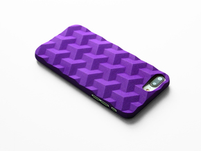 iPhone 7 & 8 Plus case_Cube in Purple Processed Versatile Plastic