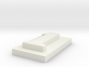 1 in White Natural Versatile Plastic