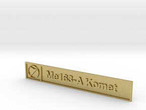 Me163-A Plaque in Natural Brass