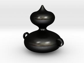 Bottle of gourd in Matte Black Steel