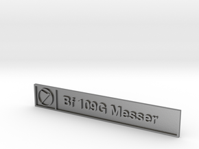 Bf 109G Plaque in Natural Silver