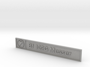 Bf 109G Plaque in Aluminum