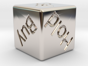 Investor's Dice in Rhodium Plated Brass