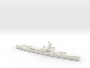 1/1250 Scale Dealey Class in White Natural Versatile Plastic