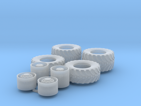 H0 1:87 Agrar-Reifen 2 achsig in Smooth Fine Detail Plastic