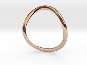 Onda02e Earring in 14k Rose Gold Plated Brass