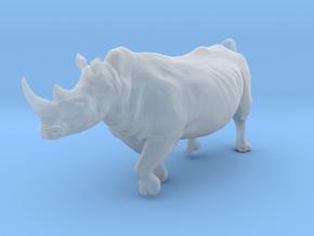 White Rhinoceros 1:48 Running Male in Smooth Fine Detail Plastic