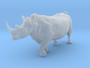 White Rhinoceros 1:45 Running Male in Smooth Fine Detail Plastic