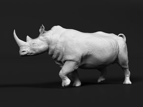 White Rhinoceros 1:120 Running Male in Smooth Fine Detail Plastic