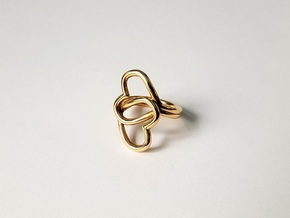 Knotted Hearts Ring in Polished Bronze: 6.5 / 52.75