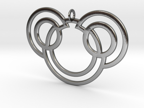Bunny Pendant in Polished Silver: Small