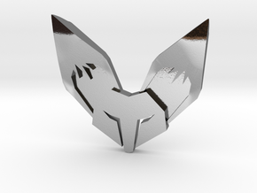 Fennec3D.com Fox Logo Fridge Magnet in Polished Silver
