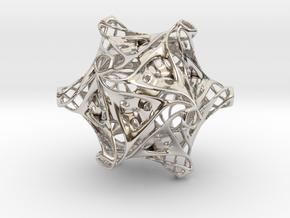 Icosahedron modified organic  in Rhodium Plated Brass