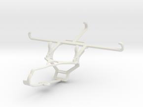 Controller mount for Steam & Motorola Moto G6 - Fr in White Natural Versatile Plastic