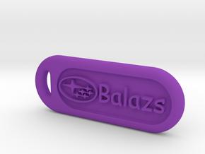 Subaru keychain in Purple Processed Versatile Plastic