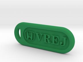 Honda keychain in Green Processed Versatile Plastic