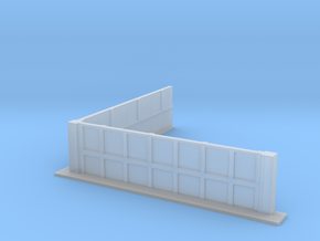 Low Wall with Right Angle 28mm in Smooth Fine Detail Plastic