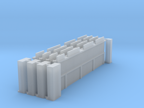 Wall Extension Set in Smooth Fine Detail Plastic