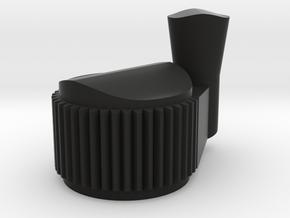 Proton pack Crank Generator Knob in Black Natural Versatile Plastic