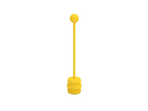 Honey dipper in Yellow Processed Versatile Plastic