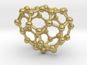 0672 Fullerene c44-44 c1 in Natural Brass