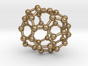 0673 Fullerene c44-46 c1 in Polished Gold Steel